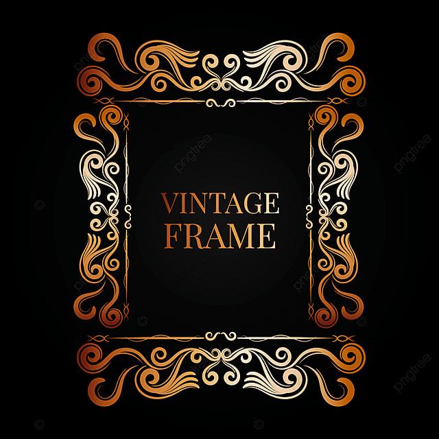 712dfb69aac Ornamental Vintage Golden Frame