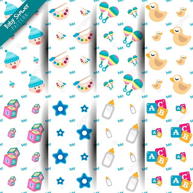 Seamless Baby Shower Pattern Background Pattern Abstract