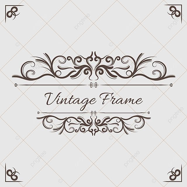 Vintage Floral Ornament, Background, Marco, Floral PNG y Vector para ...