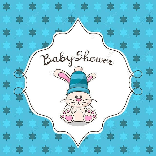 Baby Shower Card With Cute Rabbit Baby Shower Invitation Png And