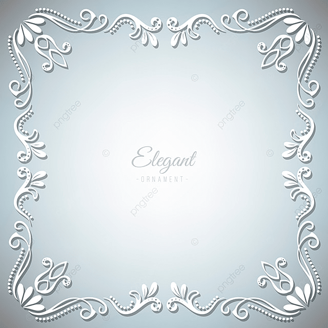 Ornament Frame On Silver Background, Frame, Ornament, Vector PNG and ...