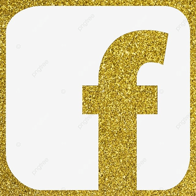 Facebook Icon Vector Gold Color Glitter Png And Vector For Free