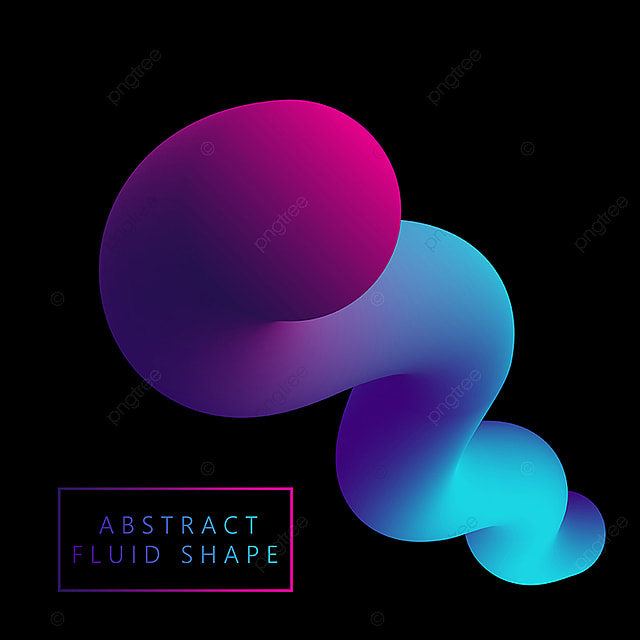 Gradient Color Fluid Like Shape Shape Background Abstract