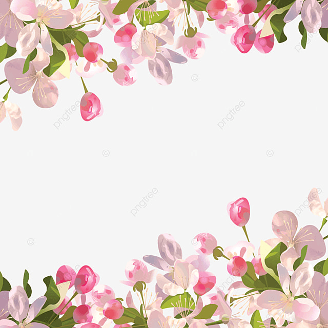 Realistic Spring Flowers Background Spring Flowers Png And Psd