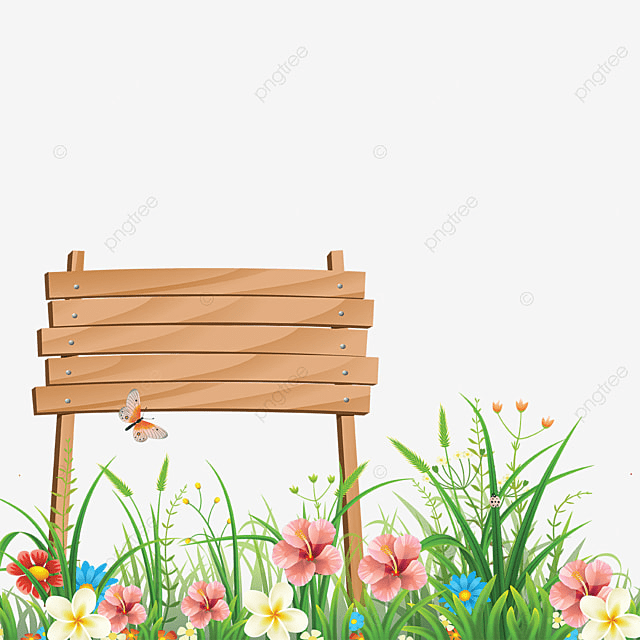Spring Flower With Green Background Vector 02 Free Download: Beautiful Flower Wooden With Spring Grass Background, Wood