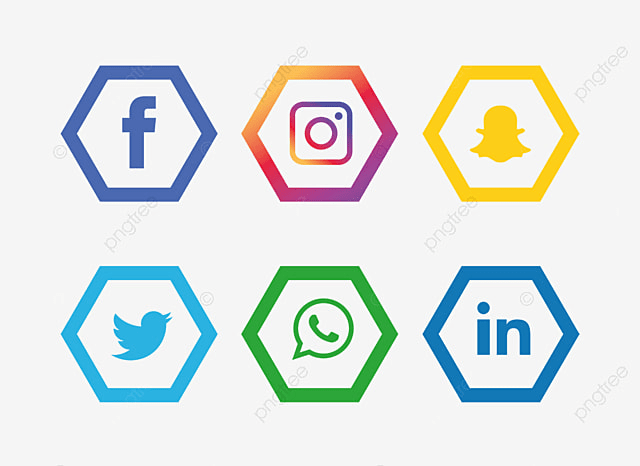 social media icons setinstagram whatsapp facebook social