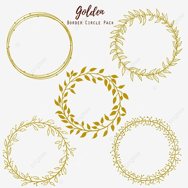 Golden Circle Wedding Frame, Gold, Golden PNG And PSD File