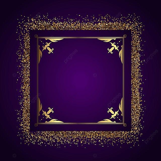 Marco Decorativo De Fondo Con GOLD GLITTER 1508, Vector, Background ...