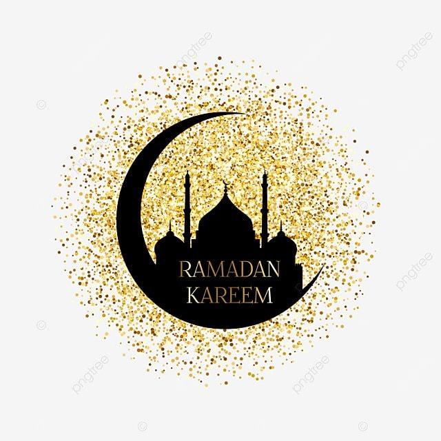 gold ramadan kareem background confetti ramadan mubarak mosque