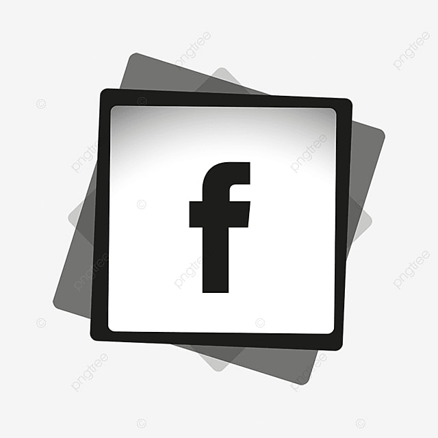 logo facebook png noir
