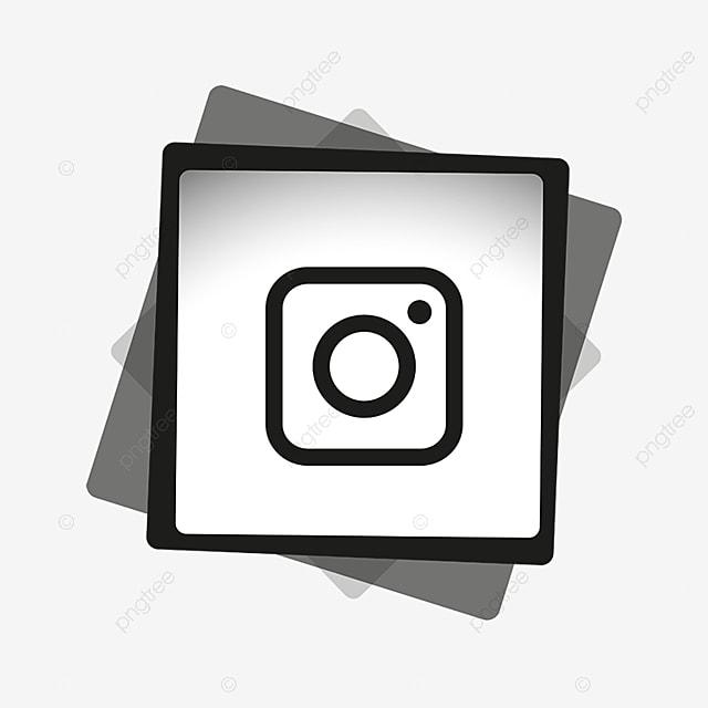 instagram en noir et blanc sociaux m u00e9dias ic u00f4ne png et vecteur pour t u00e9l u00e9chargement gratuit