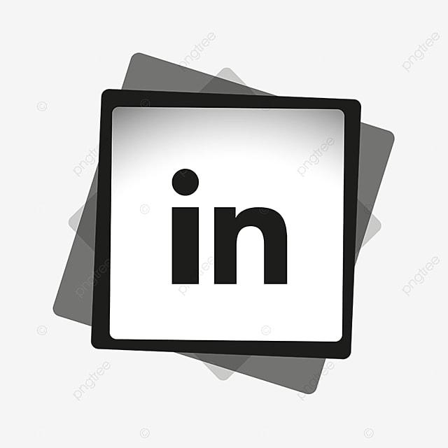 Linkedin Black Amp Amp White Icon Black And White Icon