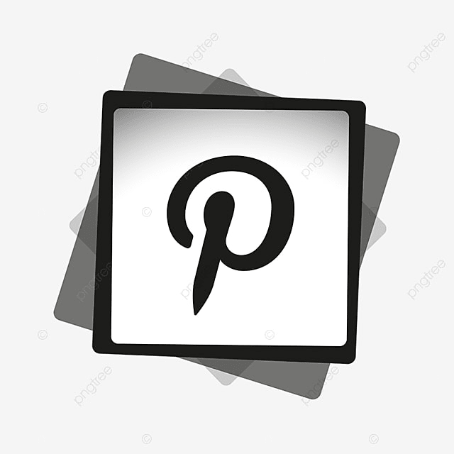 pinterest black amp white icon social media icon png and