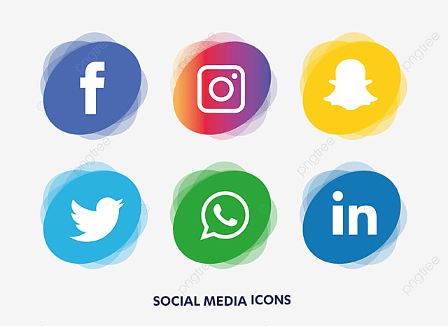 social media icons set social media icon png and vector for free