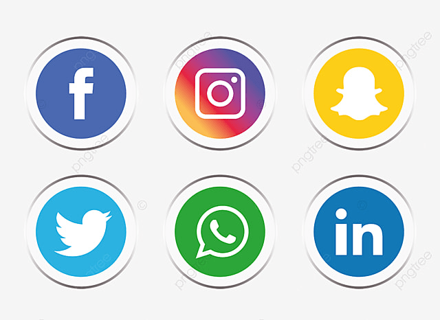 Social Media Icons Set Social Media Icon Png And Vector For Free Download