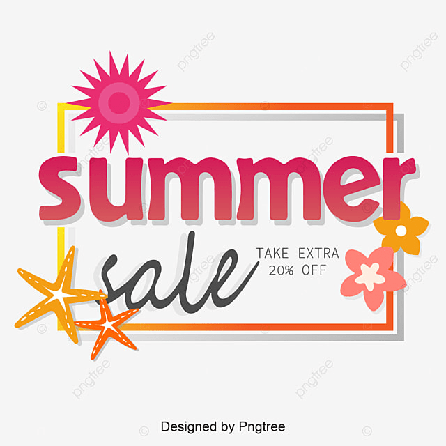 summer sale with label vector summer sale sale vector summer