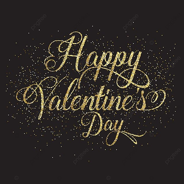 aacb13eee428 gold glitter valentine's day text 1512, Background, Valentine, Valentines  Day PNG and Vector