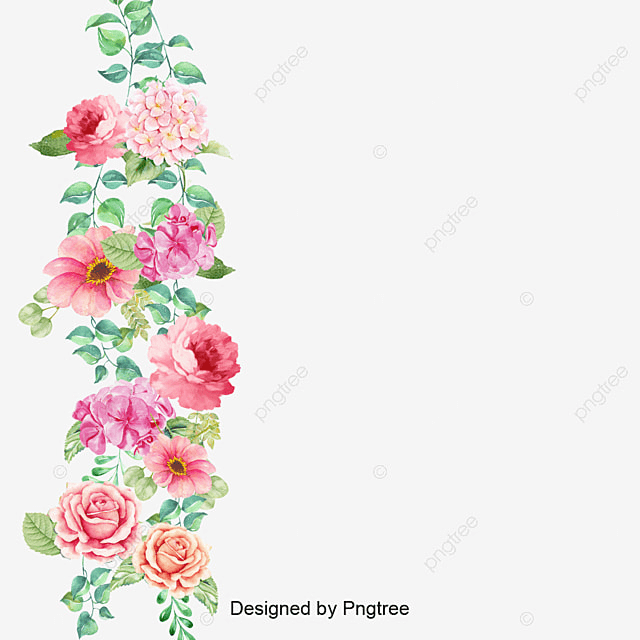 d96300f64bd Flower Border Vector