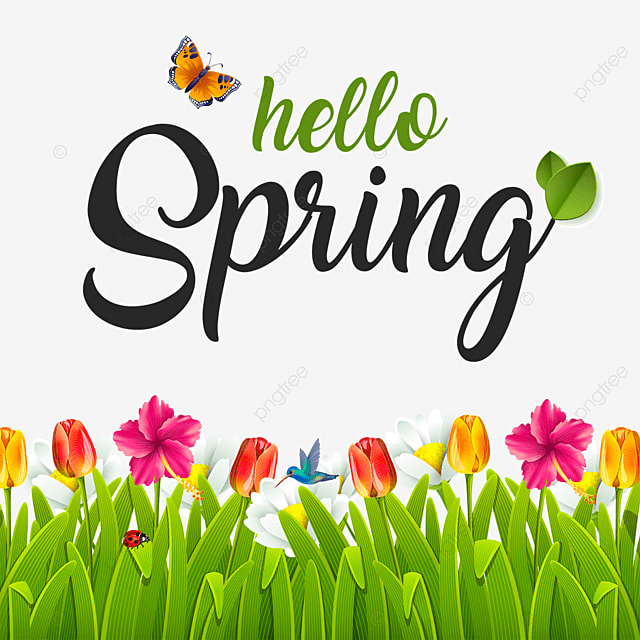 Beautiful Hello Spring, Spring, Green PNG Transparent ...