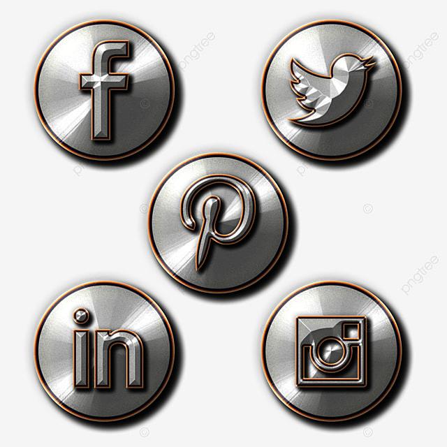 Steel Style Social Media Icon Set, Social Media, Icons ...
