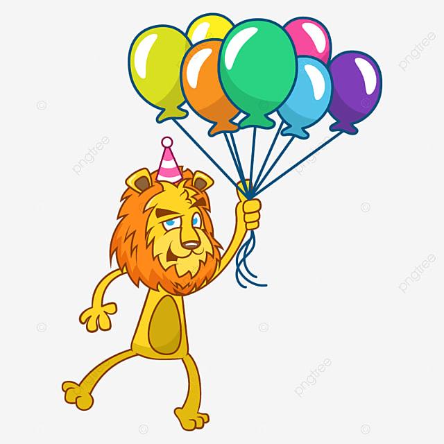 Открытка смешная лев, днем