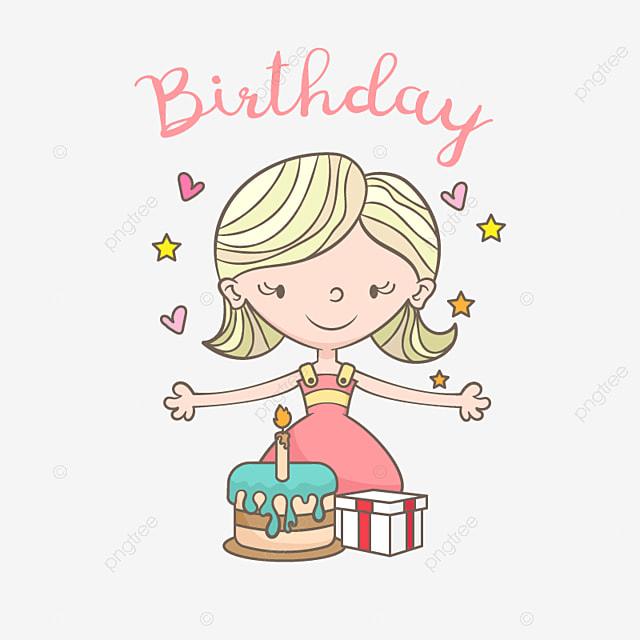 carte d anniversaire avec une jolie fille anniversaire