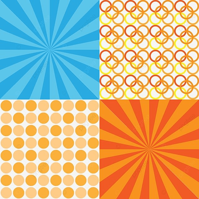 Four Backgrounds For Birthdays Blue And Orange Color Background Pattern Birthday PNG