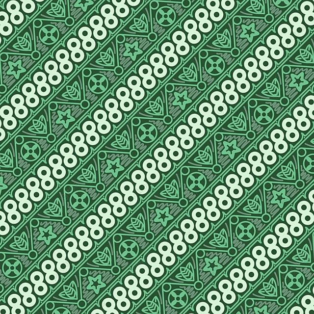 Indonesian Geblek Batik Pattern Free Vector, Textile