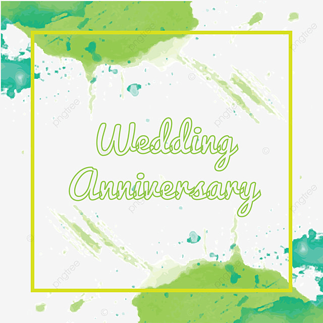 Watercolor Wedding Anniversary Color Splash Fl Frame Png And Vector