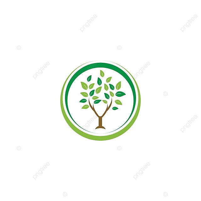 Elegante Diseño De La Hoja Del Arbol De Agricultura Logo Círculo