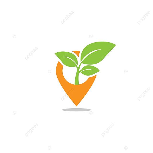 Pin Mapa Leaf Sprout Agricultura Diseño De Logotipo Plantilla Vector ...