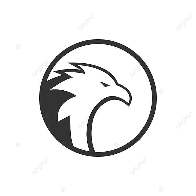 circulo  u00e1guia logotipo conceito predador modelo branco png