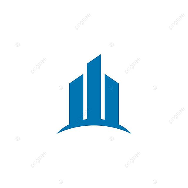 le concept de construction immobili u00e8re logo bleu vecteur