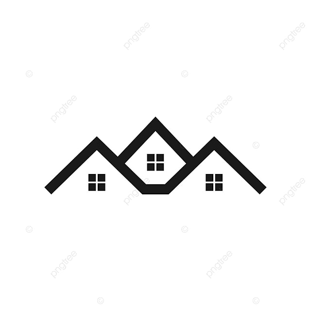 White Roof Template Real Estate House Logo Template Estate
