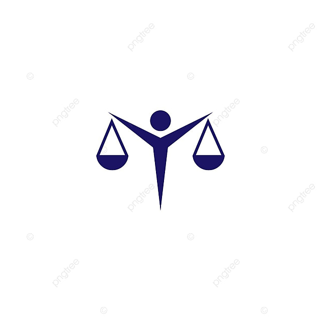 attorney at law logo and icon template vector abstract