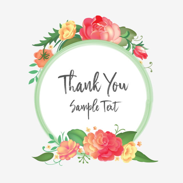 Thank You Floral Flowers Wreaths, Floral, Flowers, Vintage