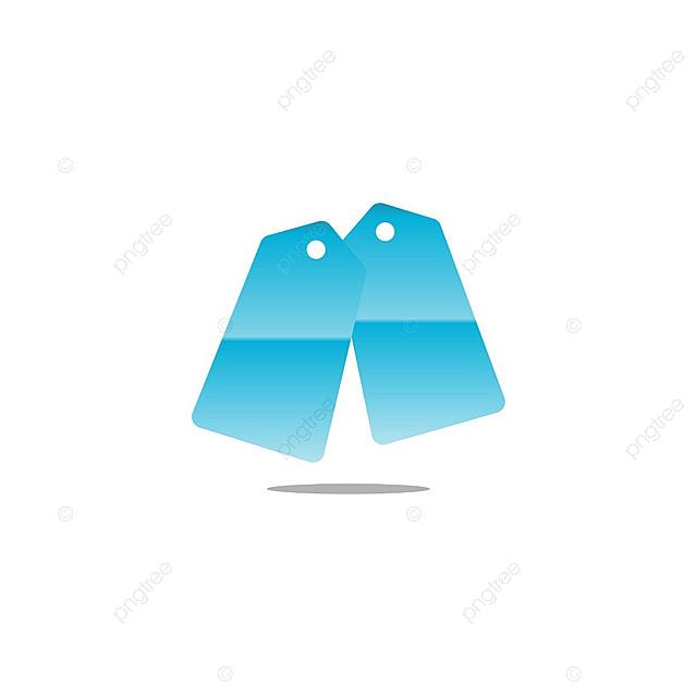 Azul Diseño De Logotipo Plantilla Vector Etiqueta De Precio De Venta ...