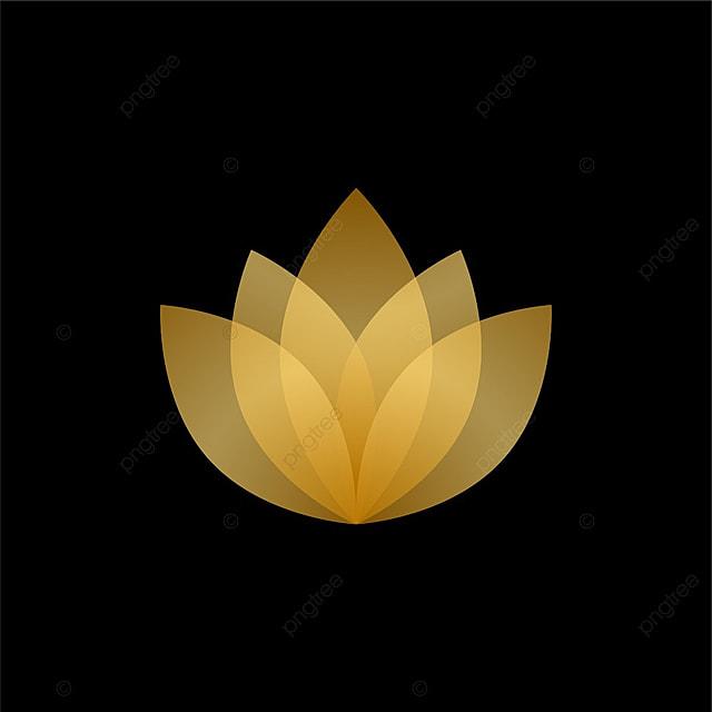 resumen de loto de oro y transparente de dise u00f1o de logotipo transparencia oro amarillo png y