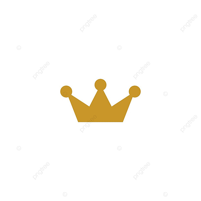 gold crown logo icon element abstract background beauty