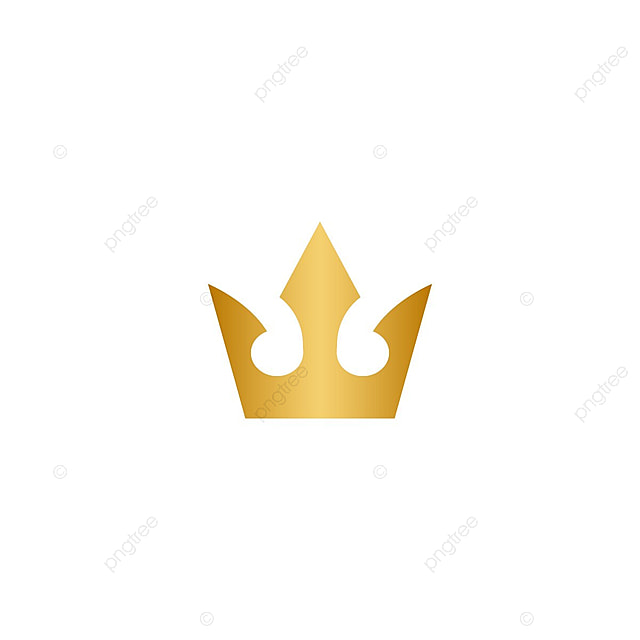 gold crown logo icon element abstract background beauty png and