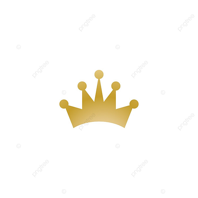 3af8b843e7d0 Gold Crown Logo Icon Element