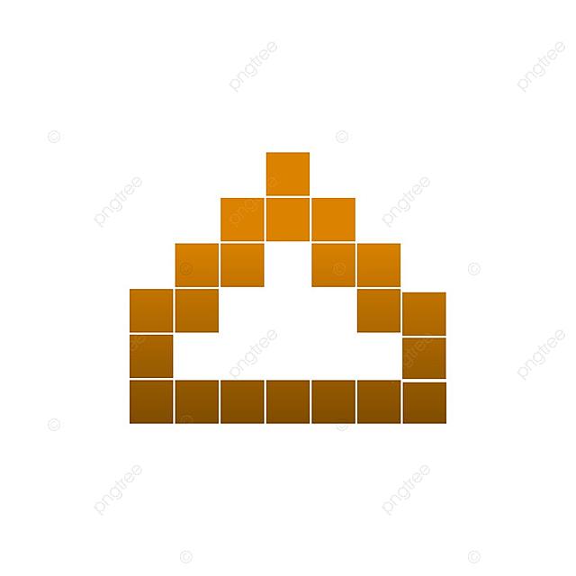 Elegante Pixel Art Temple Plantilla Vector, Elegante, Forma, Arte ...