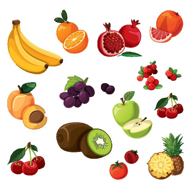 векторные картинки фрукты очень много, обо