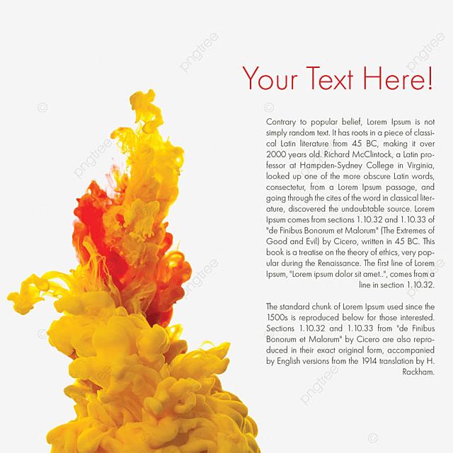 Colorful Smoke Magic Effect With Text, Smoke, Orange Smoke
