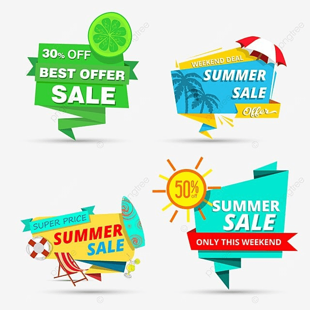 Summer Sale Tags, Tag Design, Summer Sale Tag, Summer PNG