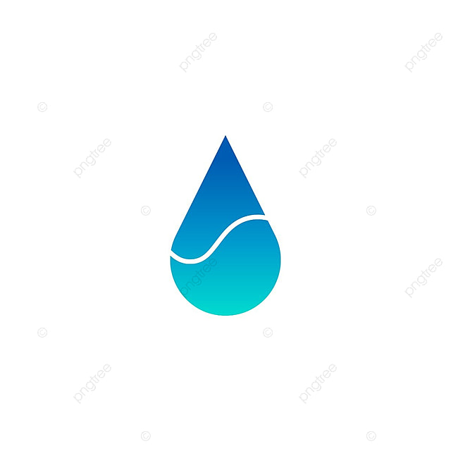blue water drop logo icon template vector business water abstract