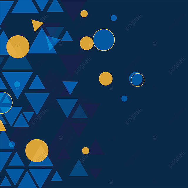 Abstract Geometric Navy Blue Triangle Background, Abstract