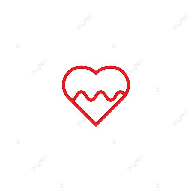 Herz Puls Logo Icon Template , Herz, Puls, Symbol PNG und Vektor zum ...
