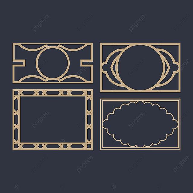 Simple Marcos Ornamentales, Marco, Vintage, Ornamento PNG y Vector ...