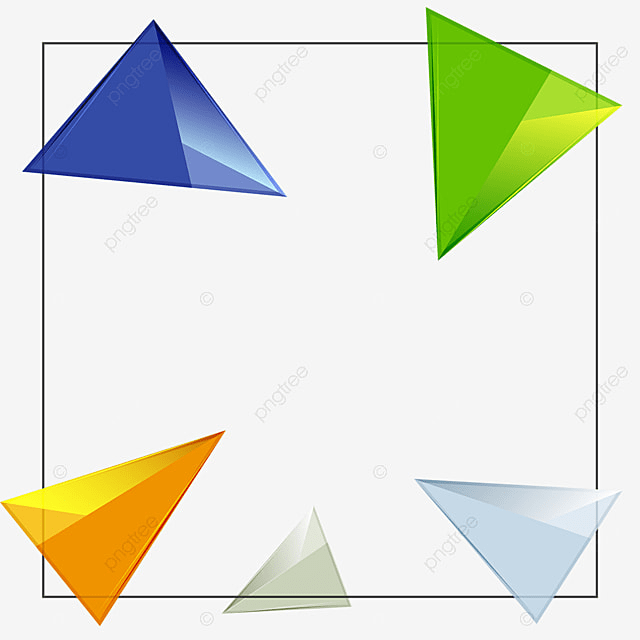 3D Triangle Geometric Shaped Background PNG And Vector